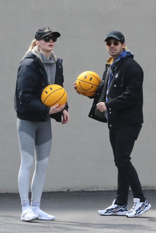 SOPHIE TURNER and Joe Jonas at a Basketball Photoshoot in New York 03/14/2019