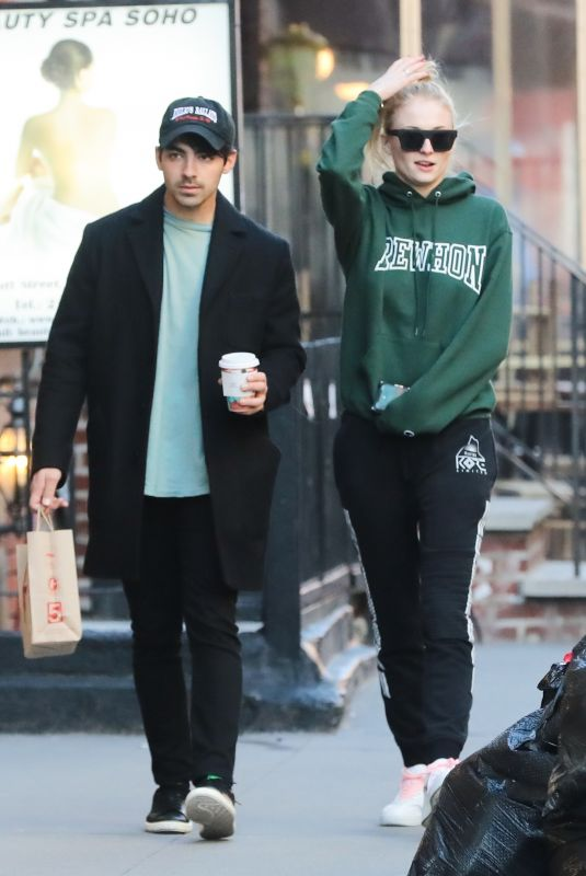 SOPHIE TURNER and Joe Jonas Out and About in New York 03/17/2019