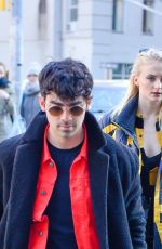 SOPHIE TURNER and Joe Jonas Out in New York 03/09/2019