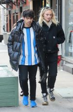 SOPHIE TURNER and Joe Jonas Out in New York 03/12/2019