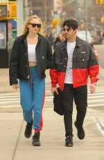 SOPHIE TURNER and Joe Jonas Out in New York 03/15/2019