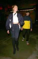 SOPHIE TURNER Night Out in Los Angeles 03/02/2019