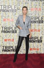 TONI GARRN at Triple Frontier Premiere in New York 03/03/2019
