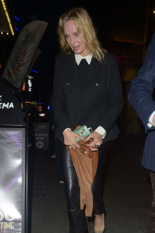 UMA THRUMAN Out and About in London 03/20/2019