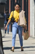 VANESSA HUDGENS in Denim Out Shopping in Hollywood 03/14/2019