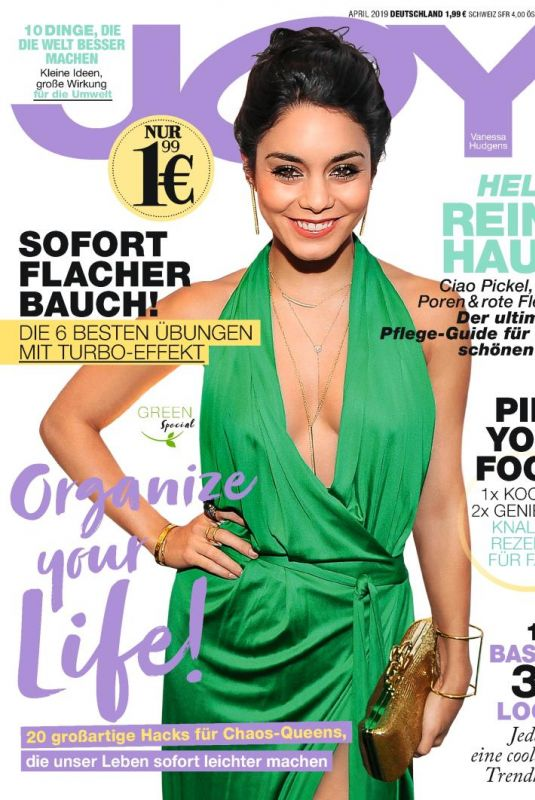 VANESSA HUDGENS onthe Cover of Joy Magazine, Germany April 2019