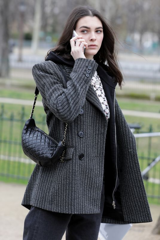 VITTORIA CERETTI Leaves Chanel Fashion Show in Paris 03/05/2019