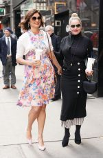 ABBIE CORNISH and JACQUELINE KING Leaves Build Series in New York 04/03/2019