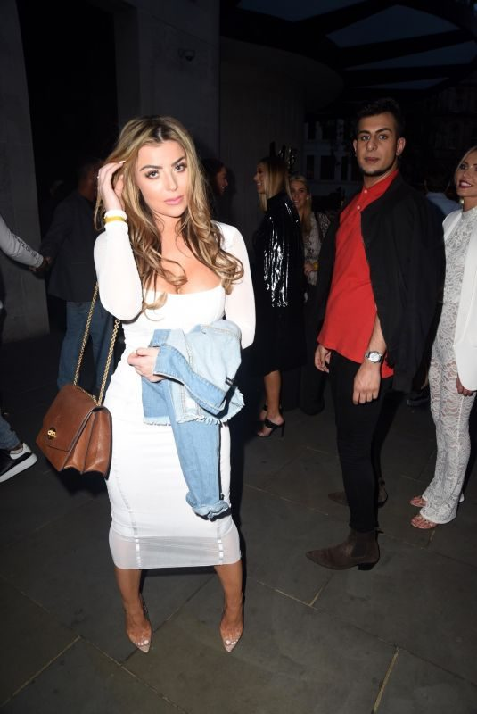 ABIGAIL CLARKE at Mark Wright's London Marathon After Party in Essex 04/28/2019