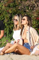 ALESSANDRA AMBROSIO at Early Birthday Party at a Beach in Los Angeles 04/07/2019