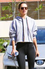 ALESSANDRA AMBROSIO Heading to a Gym in Malibu 04/03/2019