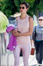 ALESSANDRA AMBROSIO Heading to Yoga Class in Brentwood 04/08/2019