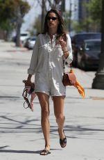 ALESSANDRA AMBROSIO Heading to Yoga Studio in Los Angeles 04/09/2019
