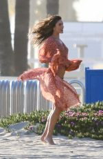 ALESSANDRA AMBROSIO on the Set of a Photoshoot in Santa Monica 04/11/2019