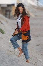 ALESSANDRA AMBROSIO Out at a Beach in Malibu 04/02/2019