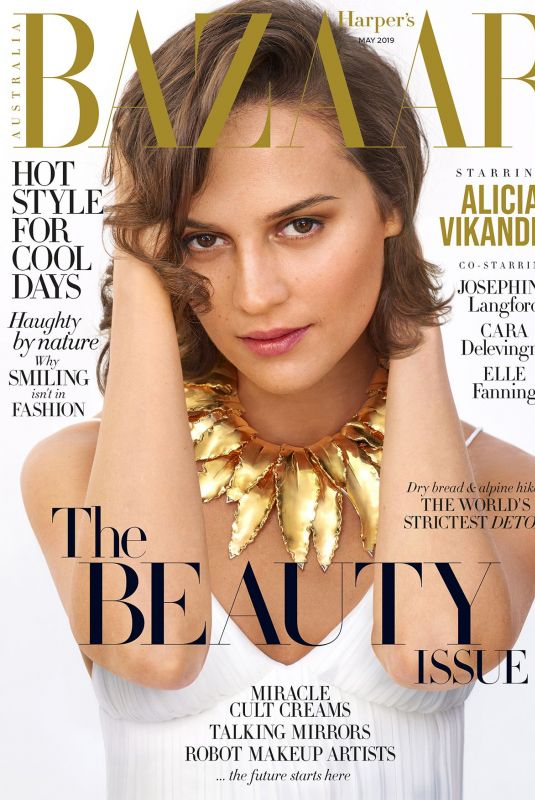 ALICIA VIKANDER on the Cover of Harper
