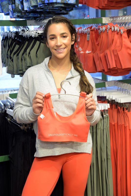ALY RAISMAN at Aerie x Aly Raisman Collection Launch in New York 04/06/2019