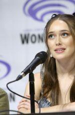 ALYCIA DEBNAM-CAREY at Fear the Walking Dead Panel at WonderCon in Anaheim 03/31/2019