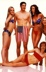 ALYSON HANNIGAN, TARA REID, SHANNON ELIZABETH and MENA SUVARI - American Pie for Rolling Stone, 1999