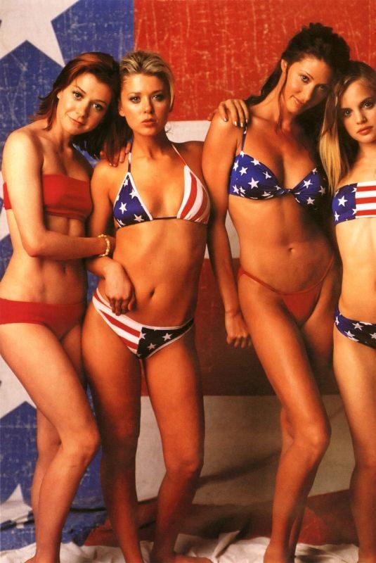 ALYSON HANNIGAN, TARA REID, SHANNON ELIZABETH and MENA SUVARI – American Pie for Rolling Stone, 1999