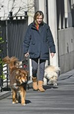 AMANDA SEYFRIED Out with Her Dog in New York 04/02/2019