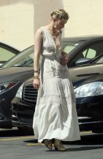 AMBER HEARD Heading to a Business Meeting in Los Angeles 04/07/2019