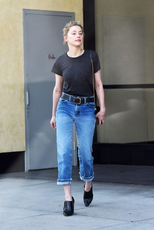 AMBER HEARD in Denim Out and About in Los Angeles 04/03/2019