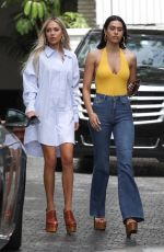 AMELIA and DELILAH HAMLIN at Chateau Marmont in Los Angeles 04/11/2019