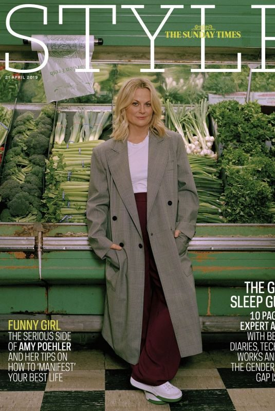 AMY POEHLER in Sunday Times Style, April 2019