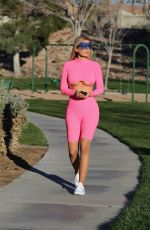 ANA BRAGA in Tights Out at a Park in Los Angeles 04/29/2019
