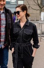 ANNE HATHAWAY at Heathrow Airport in London 04/08/2019