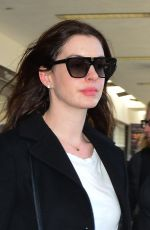 ANNE HATHAWAY at LAX Airport in Los Angeles 04/03/2019