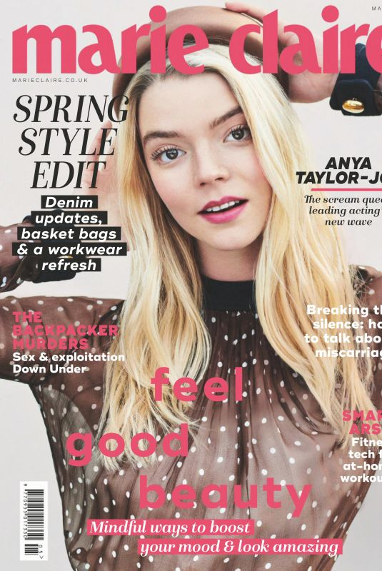 ANYA TAYLOR-JOY in Marie Claire Magazine, UK April 2019