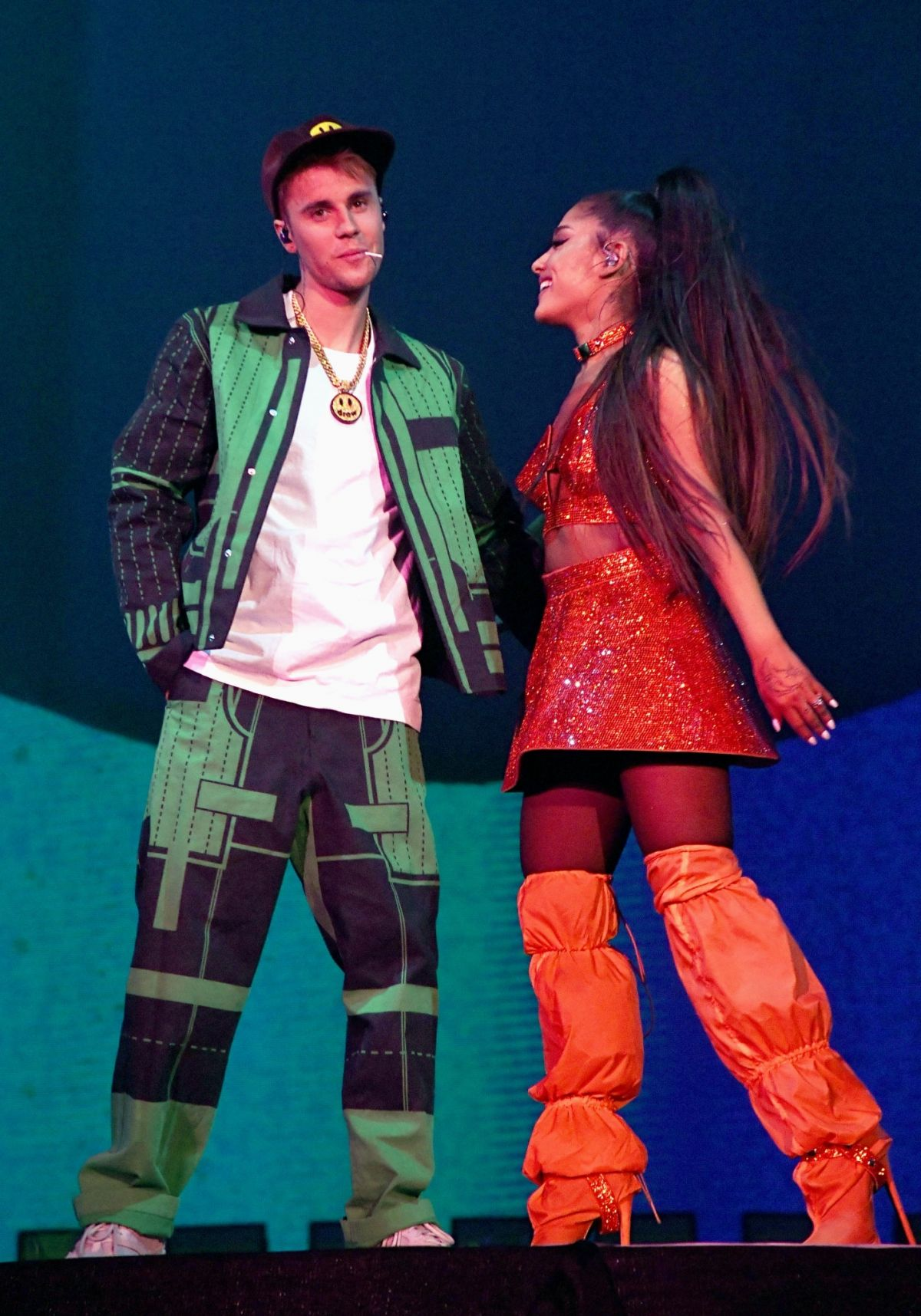 ARIANA GRANDE and Justin Bieber Performs at Coachella ...
