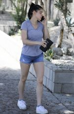 ARIEL WINTER in Denim Shorts Out in Los Angeles 04/23/2019