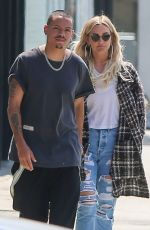 ASHLEE SIMPSON and Evan Ross Out in Los Angeles 04/02/2019
