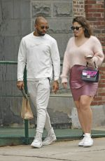 ASHLEY GRAHAM and Justin Ervin Out in New York 04/14/2019