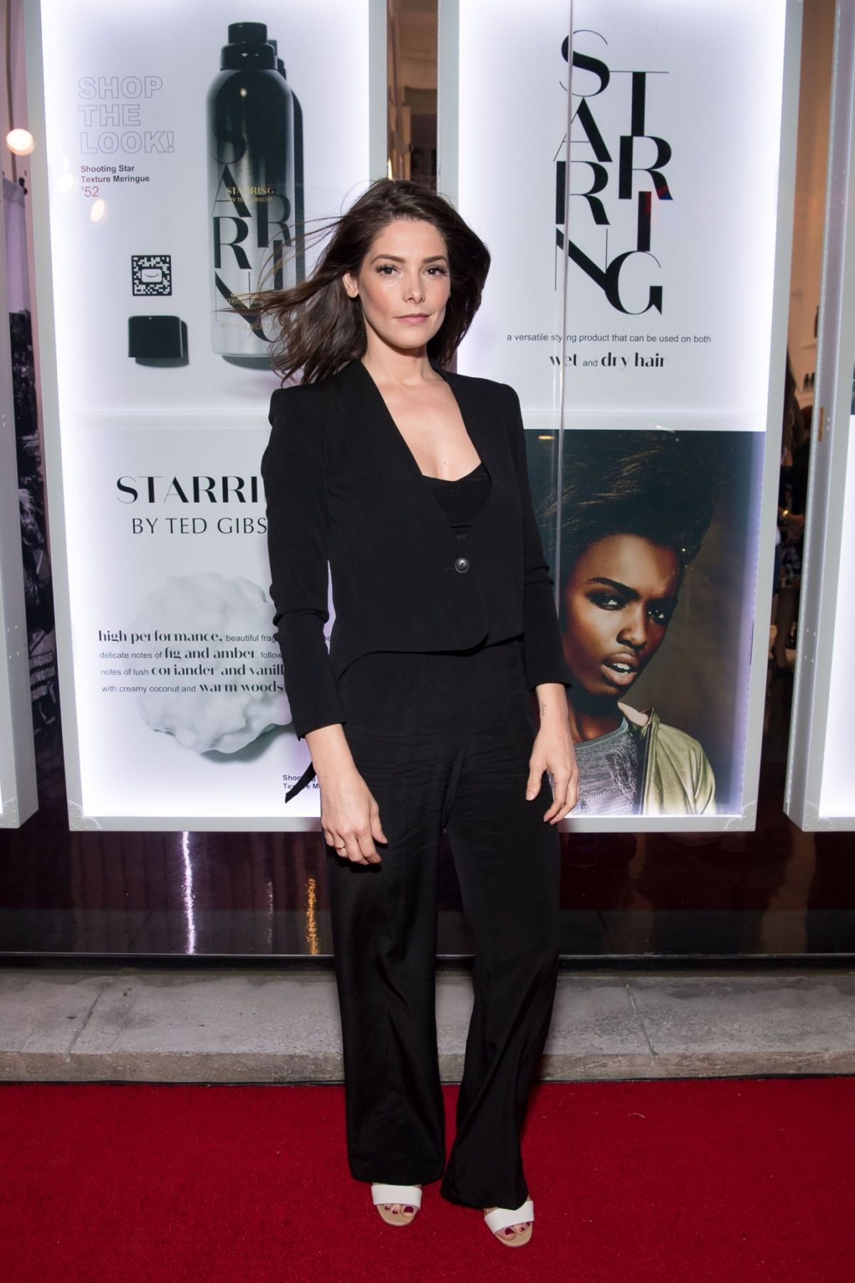 ASHLEY GREENE at Starring by Ted Gibson Salon Opening in ...