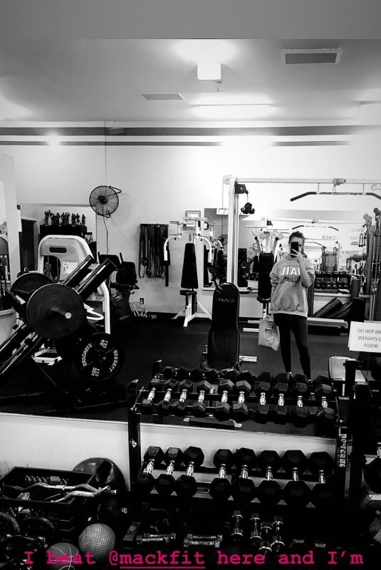 BAILEE MADISON Workingout at a Gym – Instagram Videos