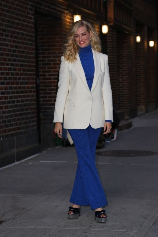 BETH BEHRS Arrives at Late Show Stephen Colbert in New York 04/17/2019