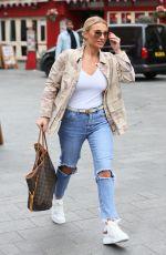 BILLIE FAIERS in Ripped Jeans Leaves Global Studio in London 03/27/2019