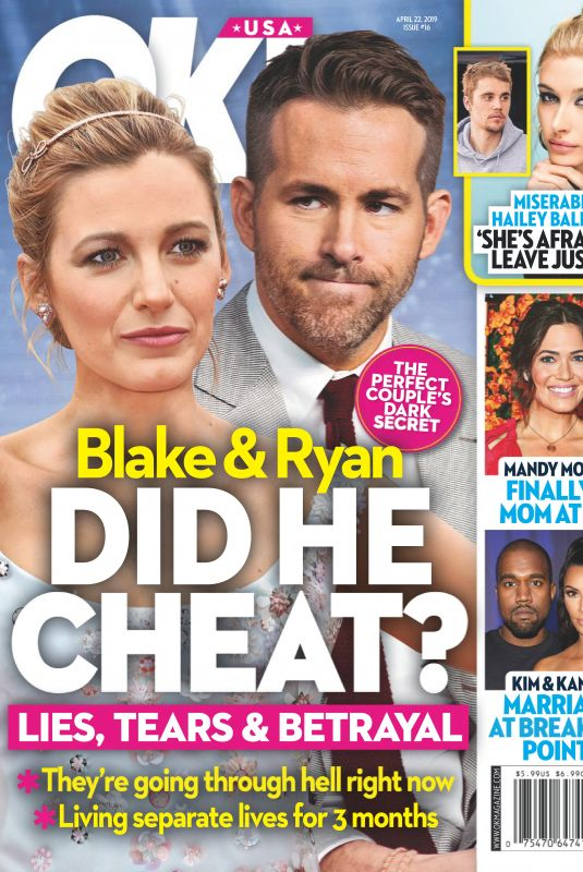 BLAKE LIVELY and Ryan Reynolds in OK! Magazine, April 2019