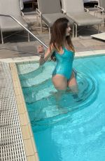 BLANCA BLANCO in Swimsuit at Four Seasons Hotel in Beverly Hills 04/05/2019