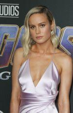 BRIE LARSON at Avengers: Endgame Premiere in Los Angeles 04/22/2019