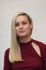BRIE LARSON at Avengers: Endgame Press Conference in Los Angeles