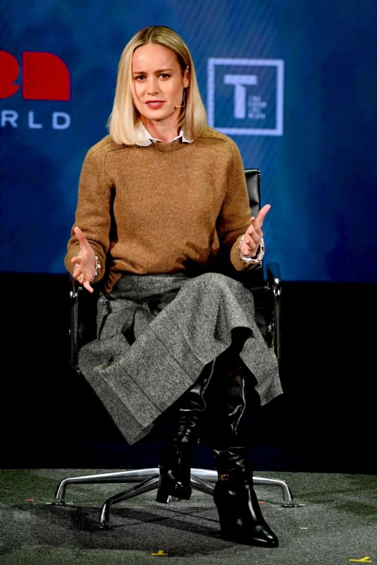 BRIE LARSON at Women in the World Summit 2019 in New York 04/10/2019