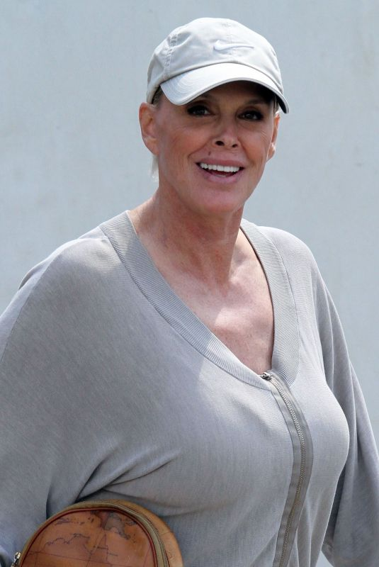 BRIGITTE NIELSEN at Le Pain Quotidien in Los Angeles 04/02/2019