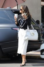 BROOKE BURKE Out for Coffee in West Hollywood 04/04/2019