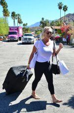 BROOKE HOGAN Leaves Karokia Penisone Hotel in Palm Springs 04/13/2019