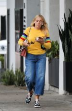 BUSY PHILIPPS Leaves Hair Salon in Los Angeles 04/05/2019